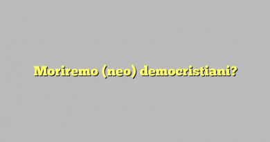 Moriremo (neo) democristiani?