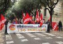 Sit-in del 12 Marzo 2018 dei dipendenti di Alba Service a Lecce e Santa Teresa a Brindisi