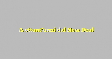 A ottant'anni dal New Deal