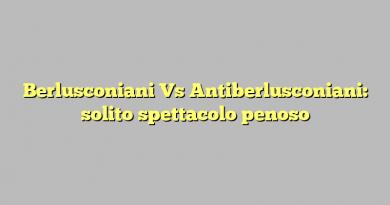 Berlusconiani Vs Antiberlusconiani: solito spettacolo penoso