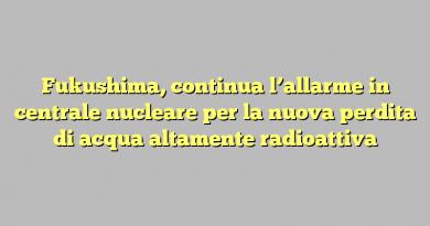 Fukushima, continua l'allarme in centrale nucleare per la nuova perdita di acqua altamente radioattiva