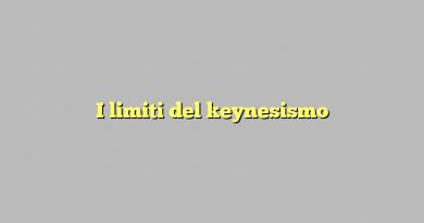 I limiti del keynesismo