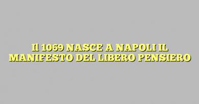 Il 1069 NASCE A NAPOLI IL MANIFESTO DEL LIBERO PENSIERO