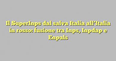 Il SuperInps dal salva Italia all'Italia in rosso: fusione tra Inps, Inpdap e Enpals