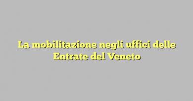 La mobilitazione negli uffici delle Entrate del Veneto