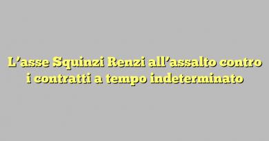 L'asse Squinzi Renzi all'assalto contro i contratti a tempo indeterminato