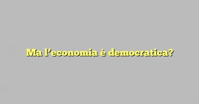 Ma l'economia è democratica?