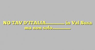 NO TAV D'ITALIA…………… in Val Susa ma non solo……………