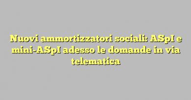 Nuovi ammortizzatori sociali: ASpI e mini-ASpI adesso le domande in via telematica