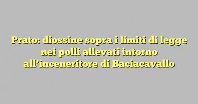 Prato: diossine sopra i limiti di legge nei polli allevati intorno all'inceneritore di Baciacavallo