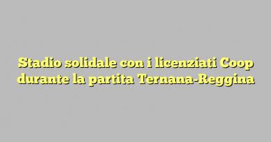 Stadio solidale con i licenziati Coop durante la partita Ternana-Reggina