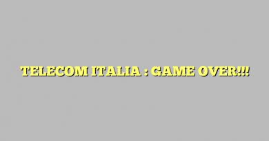 TELECOM ITALIA : GAME OVER!!!
