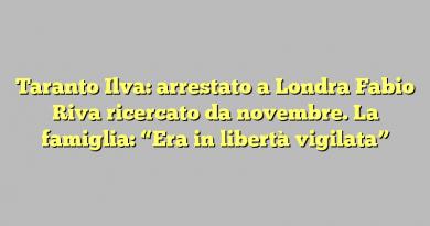 """Taranto Ilva: arrestato a Londra Fabio Riva ricercato da novembre. La famiglia: """"Era in libertà vigilata"""""""
