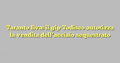 Taranto Ilva: il gip Todisco autorizza la vendita dell'acciaio sequestrato