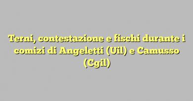 Terni, contestazione e fischi durante i comizi di Angeletti (Uil) e Camusso (Cgil)