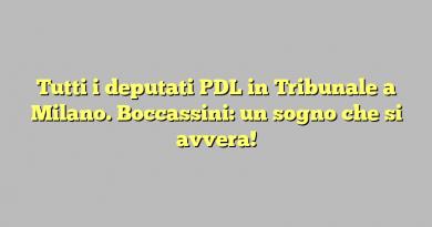 Tutti i deputati PDL in Tribunale a Milano. Boccassini: un sogno che si avvera!
