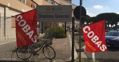 Sit-in in via Miglietta n.5 nei pressi della Direzione Generale dell'ASL di Lecce del 19 Ottobre 2018.