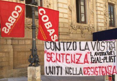 Licenziati Gial Plast sit-in di protesta a Lecce 8 Agosto 2019
