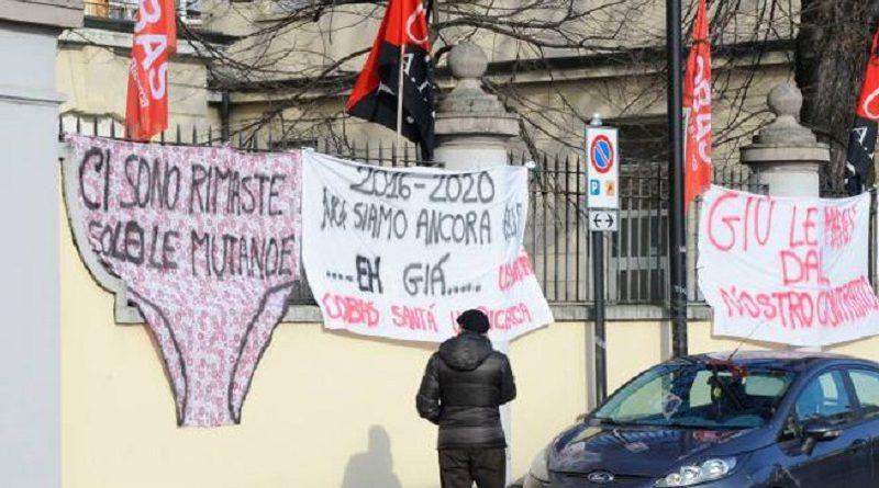 Stato di agitazione all'Istituto Sacra Famiglia di Cesano Boscone (MI): sciopero e via legale